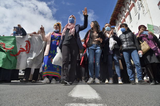 Algerian women hit the streets demanding equal rights