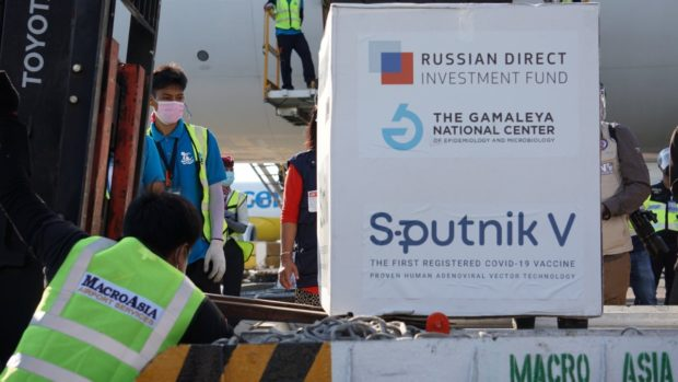 Manila City begins inoculating medical frontliners with Sputnik V